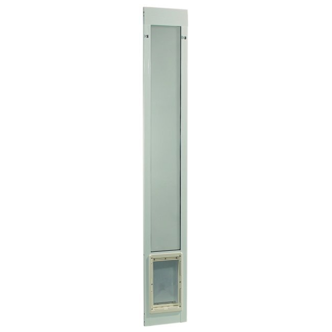 Ideal pet fast fit pet patio door super large white for Ideal pet doors