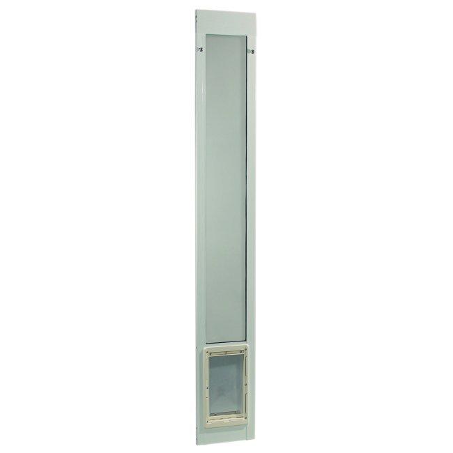 Ideal pet fast fit pet patio door super large white for Ideal dog door