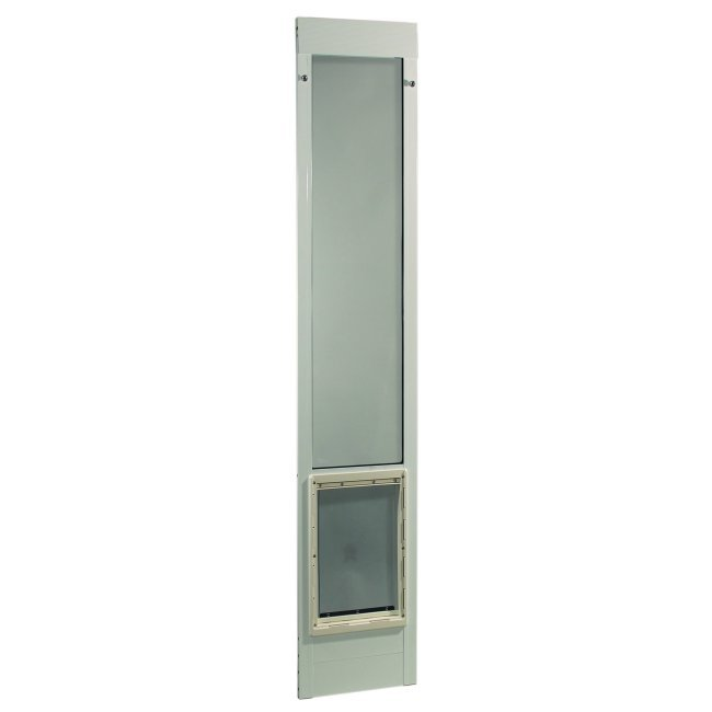 ideal pet fast fit pet patio door large white frame 75 to 77 3 4 inches